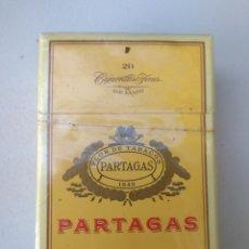 Paquetes de tabaco: ANTIGUO PAQUETE DE PARTAGAS LUJO. Lote 174173588