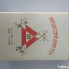 Paquetes de tabaco: PAQUETE CIGARRILLOS MONTECRISTO SUPERFINOS, DE CUBA, COMPLETO. Lote 174259062