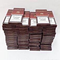 Paquetes de tabaco: LOTE DE 50 CAJETILLAS VACIAS DE 5 CIGARRILLOS MOODS.. Lote 174262824