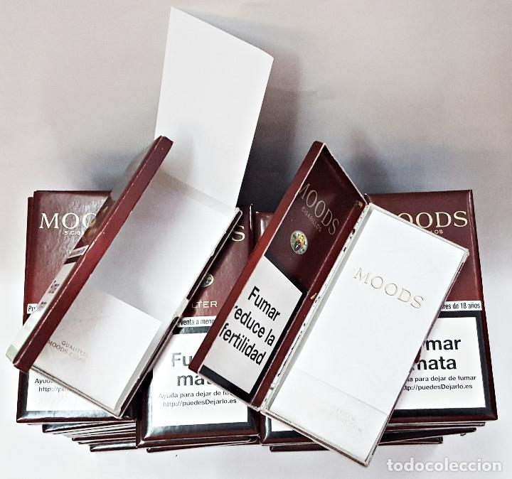 Paquetes de tabaco: Lote de 50 cajetillas vacias de 5 cigarrillos MOODS. - Foto 2 - 174262824