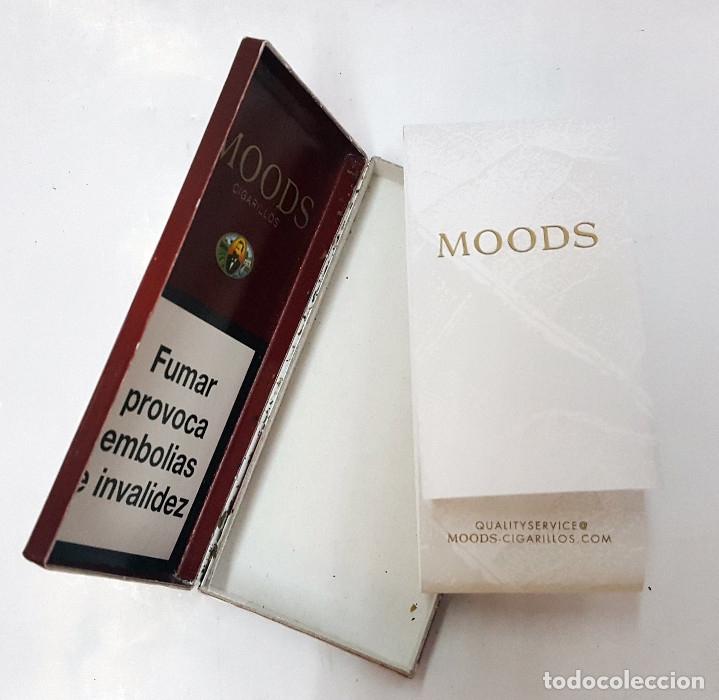Paquetes de tabaco: Lote de 50 cajetillas vacias de 5 cigarrillos MOODS. - Foto 5 - 174262824