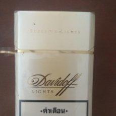 Paquetes de tabaco: ANTIGUO PAQUETE DE TABACO DAVIDOFF LIGHTS DE TAILANDIA, LLENO Y CERRADO. Lote 174326664