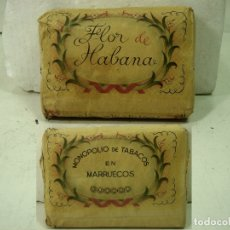 Paquetes de tabaco: PICADURA 100 GRS - FLOR DE HABANA - MONOPOLIO DE TABACOS EN MARRUECOS- ANTIGUO PAQUETE VUELTA ABAJO. Lote 175474402