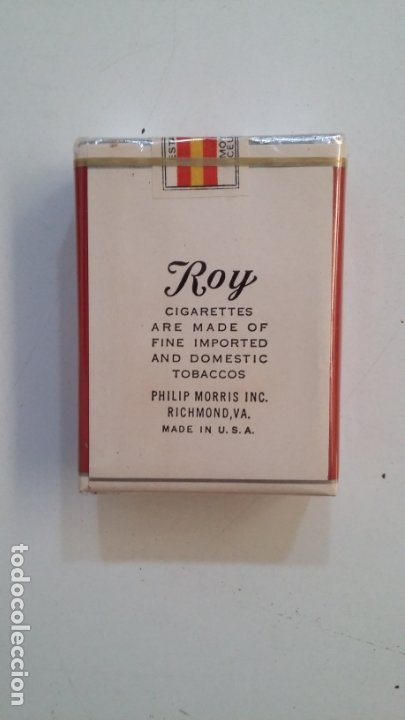 Paquetes de tabaco: PAQUETE DE TABACO CIGARRILLOS ROY. IMPORTED AND DOMESTIC BLEND CIGARETTES SIN ABRIR. CAR164 - Foto 2 - 176542323