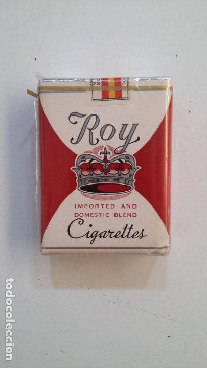 Paquetes de tabaco: PAQUETE DE TABACO CIGARRILLOS ROY. IMPORTED AND DOMESTIC BLEND CIGARETTES SIN ABRIR. CAR164 - Foto 1 - 176542323