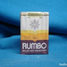 Paquetes de tabaco: RUMBO - ANTIGUO PAQUETE DE TABACO - C.I.T.E.S.A. ISLAS CANARIAS PRECINTADO. Lote 176780283