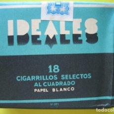 Paquetes de tabaco: PAQUETE TABACO ANTIGUO - IDEALES - COMPLETO LLENO CON SU PRECINTO - SIN ADVERTENCIAS - VER. Lote 178980053