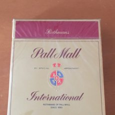 Paquetes de tabaco: PAQUETE DE TABACO CIGARRILLOS PALL MALL INTERNATIONAL ROTHMANS. Lote 180933548