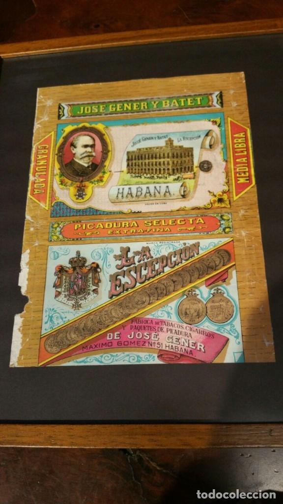 Paquetes de tabaco: Picadura Tabaco La Escepción - Jose Gener y Batet - Habana, ENMARCADO - Foto 2 - 180967510