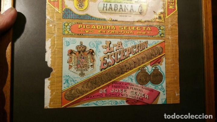 Paquetes de tabaco: Picadura Tabaco La Escepción - Jose Gener y Batet - Habana, ENMARCADO - Foto 4 - 180967510