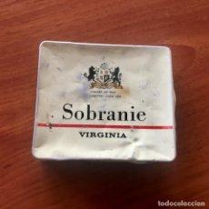 Paquetes de tabaco: CAJETILLA DE METAL TABACO INGLES SOBRANIE VIRGINIA 20. Lote 181343625
