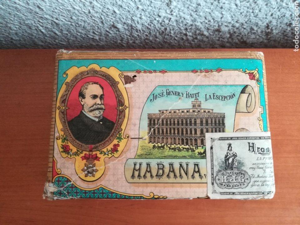LA ESCEPCIÓN FÁBRICA DE TABACOS, CIGARROS Y PAQUETES DE PICADURA DE JOSÉ GENER HABANA CUBA PICADURA (Coleccionismo - Objetos para Fumar - Paquetes de tabaco)