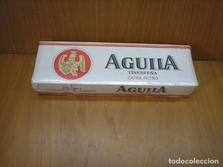 Paquetes de tabaco: Antiguo cartón de tabaco Aguila. Sin abrir - Foto 2 - 182108800