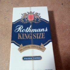 Paquetes de tabaco: ANTIGUA CAJETILLA DE TABACOS SIN ABRIR. ROTHMANS, KING SIZE.. Lote 182129217