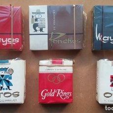Paquetes de tabaco: TABACO PAQUETE LOTE 6 CIGARRILLOS AÑOS '70. Lote 182260586