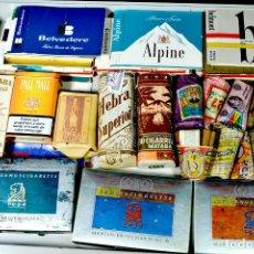 Maços de tabaco: 5000 PAQUETES DE TABACO LLENOS DIFERENTES DE MÁS DE 2500 MARCAS VENTA POR LOTES A PARTIR DE 300€. Lote 183442953