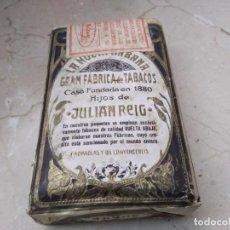 Paquetes de tabaco: MAGNIFICO Y ANTIGUO PAQUETE SELLADO Y SIN ABRIR JUAN REIG. Lote 183456365