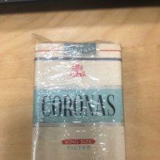 Paquetes de tabaco: ANTIGUO PAQUETE DE TABACO CIGARRILLOS CORONAS KING SIZE FILTRO. SIN ABRIR. Lote 183921368
