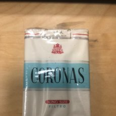 Paquetes de tabaco: ANTIGUO PAQUETE DE TABACO CORONAS KING SIZE FILTRO TENERIFE. SIN ABRIR. Lote 183922311
