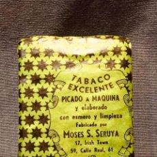 Paquetes de tabaco: PAQUETE TABACO EXCELENTE PICADO A MÁQUINA FÁBRICA MOSES SERUYA GIBRALTAR . Lote 183982138