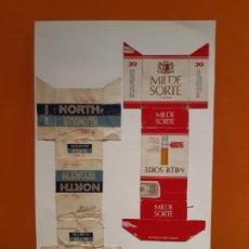 Paquetes de tabaco: CAJETILLAS DE TABACO ANTIGUOS NORTH Y MILDE SORTE. Lote 183984276