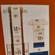 Paquetes de tabaco: CAJETILLAS DE TABACO ANTIGUOS MS Y MS BLU. Lote 183984720