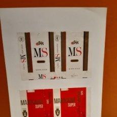 Paquetes de tabaco: CAJETILLAS DE TABACO ANTIGUOS MS Y MAROCAINE SUPER. Lote 183985023