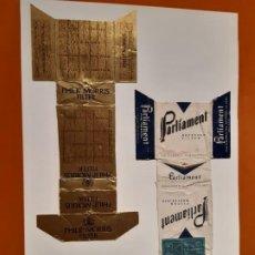 Paquetes de tabaco: CAJETILLAS DE TABACO ANTIGUOS PARLIAMENT Y PHILIP MORRIS. Lote 183987936