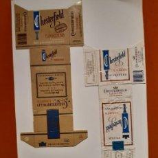 Paquetes de tabaco: CAJETILLAS DE TABACO ANTIGUOS CHESTERFIELD. Lote 183988661