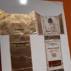 Paquetes de tabaco: CAJETILLAS DE TABACO ANTIGUOS EXTRA LUJO KAISER Y ESPECIAL MILD BENSON & HEDGES. Lote 183989118