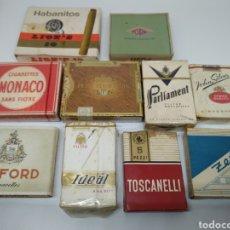 Paquetes de tabaco: LOTE CAJETILLAS DE TABACO EXTRANJERAS. Lote 184407383