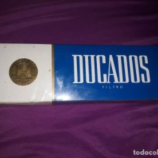 Paquetes de tabaco: ANTIGUO CARTÓN CON 10 CAJETILLAS DE CIGARRILLOS TABACOS DUCADOS FILTRO,AÑOS 80,SIN USAR,200 CIGARROS. Lote 184875125