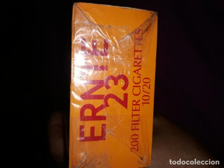 Paquetes de tabaco: Antiguo cartón con 10 cajetillas cigarrillos ernte 23,tabacos años 80,sin usar,200 cigarros - Foto 2 - 184875537