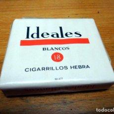 Paquetes de tabaco: ANTIGUO PAQUETE DE TABACO - CIGARRILLOS DE HEBRA IDEALES BLANCOS. Lote 185756952