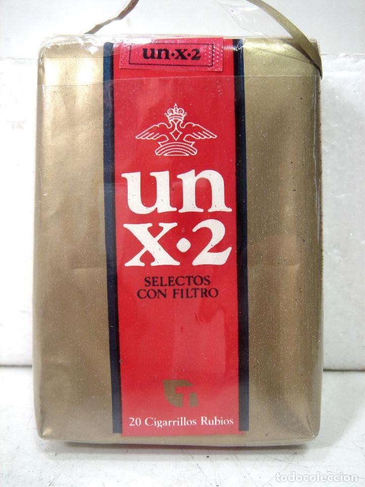 Paquetes de tabaco: ANTIGUO PAQUETE DE TABACO- UN X-2 -SELECTOS FILTROS ¡¡PRECINTADO¡¡ CIGARROS X2 - Foto 3 - 186351085
