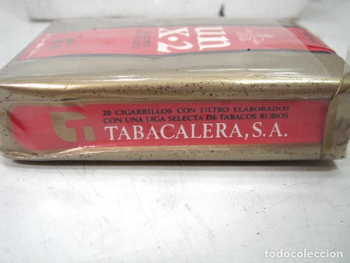 Paquetes de tabaco: ANTIGUO PAQUETE DE TABACO- UN X-2 -SELECTOS FILTROS ¡¡PRECINTADO¡¡ CIGARROS X2 - Foto 6 - 186351085
