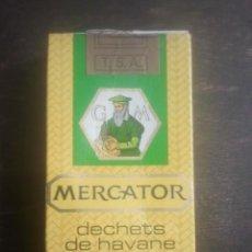 Paquetes de tabaco: ANTIGUO PAQUETE DE TABACO - MERCATOR - GM - 10 - HECHO EN BÉLGICA - VENTA EN ESPAÑA - RARO. Lote 187380426