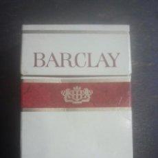 Paquetes de tabaco: ANTIGUO PAQUETE DE TABACO - BARCLAY - HECHO EN SUIZA - VENTA EN FRANCIA . Lote 187380872