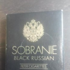 Paquetes de tabaco: ANTIGUO PAQUETE DE TABACO - SOBRANIE - BLACK RUSSIAN - FILTER CIGARETTES - INGLATERRA - MUY BONITO. Lote 187384395