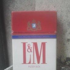Paquetes de tabaco: ANTIGUO PAQUETE Ó CAJETILLA DE TABACO - L&M - FILTER BOX USA - AMERICANO - ESTADOS UNIDOS - ORIGINAL. Lote 187430978