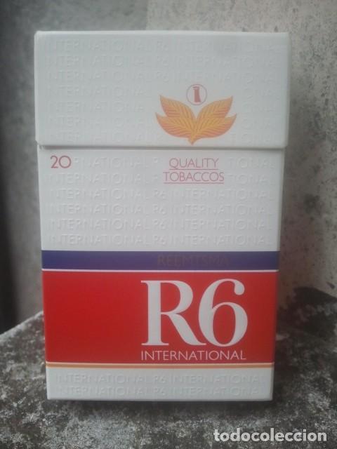 ANTIGUO PAQUETE Ó CAJETILLA DE TABACO - R6 INTERNATIONAL - ALEMÁN - VENTA EN ITALIA (Coleccionismo - Objetos para Fumar - Paquetes de tabaco)