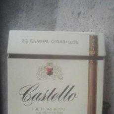 Paquetes de tabaco: ANTIGUO PAQUETE Ó CAJETILLA DE TABACO - CASTELLO - VENTA EN GRECIA - MUY RARO. Lote 187432132
