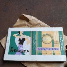 Paquetes de tabaco: ANTIGUOS ENVOLTORIO DE CIGARROS DE LA MARCA REGENTA. Lote 188483690