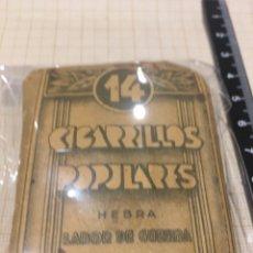 Paquetes de tabaco: CAJETILLA TABACO CIGARRILLOS POPULARES HEBRA LABOR DE GUERRA. Lote 189468186
