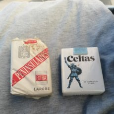 Paquetes de tabaco: LOTE DOS CAJETILLAS ANTIGUAS DE TABACO CELTAS Y PENINSULARES. Lote 203761940