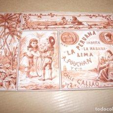 Paquetes de tabaco: ENVOLTORIO LA PERUANA LA HABANA LIMA DE TABACO CUBA PERU CHILE. Lote 190458287