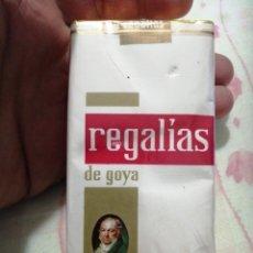 Paquetes de tabaco: PAQUETE DE TABACO COMPLETO PRECINTADO REGALÍAS GOYA. Lote 190551401
