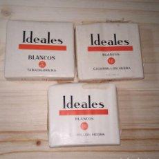 Paquetes de tabaco: LOTE 3 PAQUETES DE TABACO IDEALES BLANCOS. SIN ABRIR. . Lote 191328246