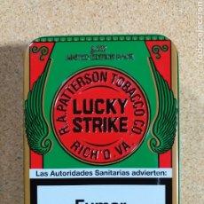Paquetes de tabaco: CAJA DE LUCKY STRIKE METÁLICA. Lote 191476640
