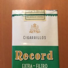 Paquetes de tabaco: PAQUETE DE CIGARRILLOS RÉCORD PRECINTADO TABACO. Lote 191602157